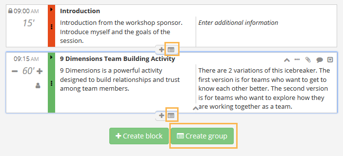 Creating a group