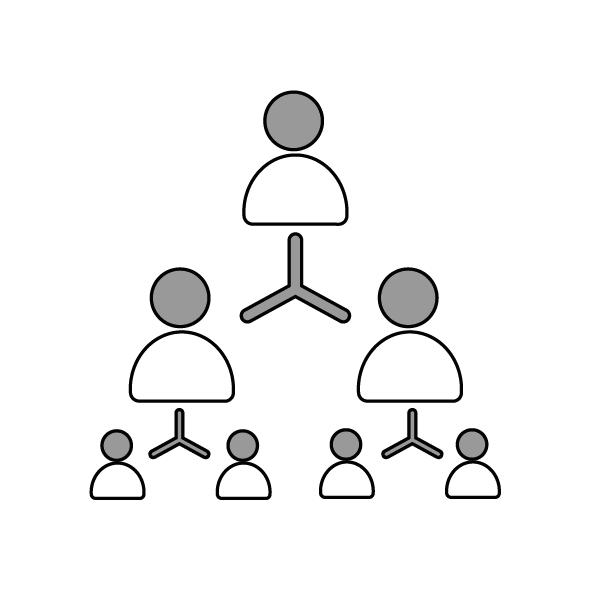 One, Two, Four Facilitation method - icon