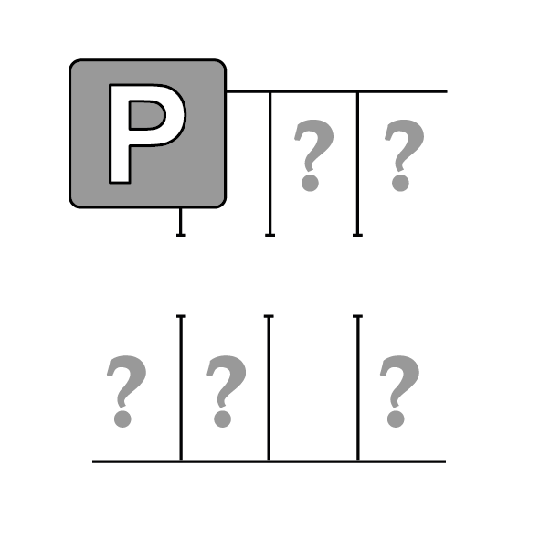 Parking lot Facilitation method - icon
