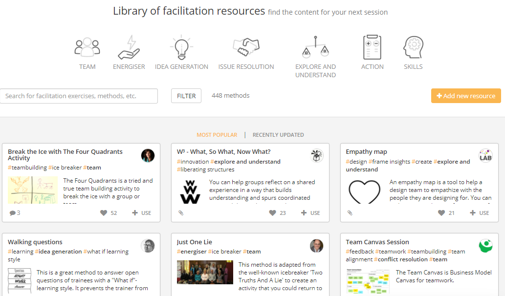 Soft Skills Training Materials in the SessionLab Library