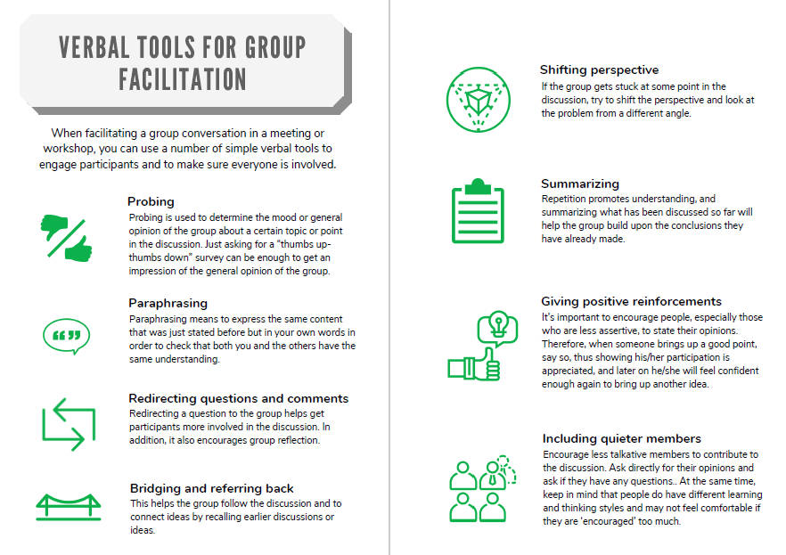Verbal Facilitation Tools