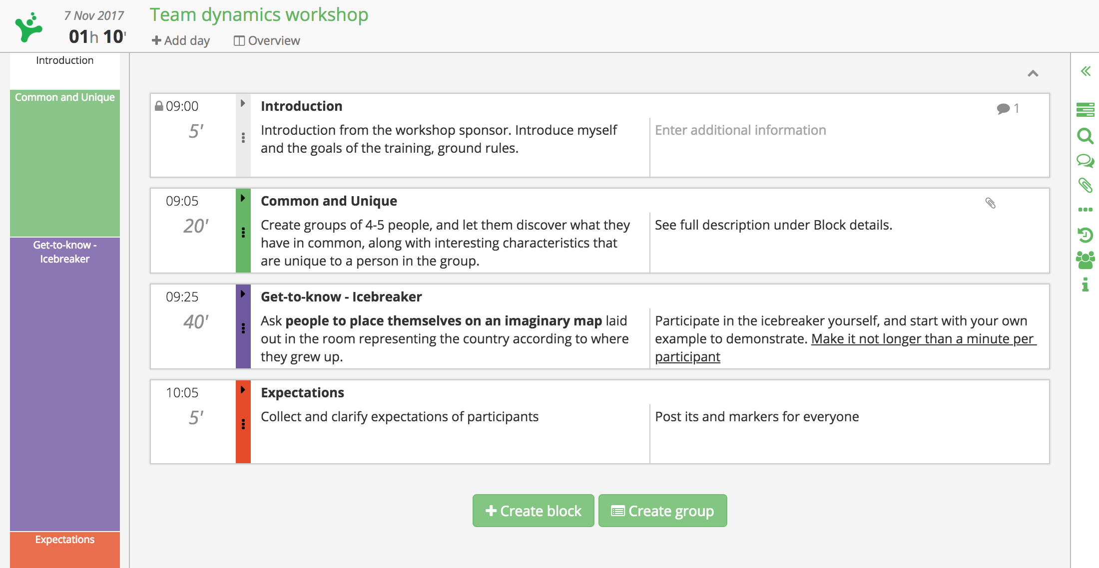 SessionLab planner - workshop planning made simple