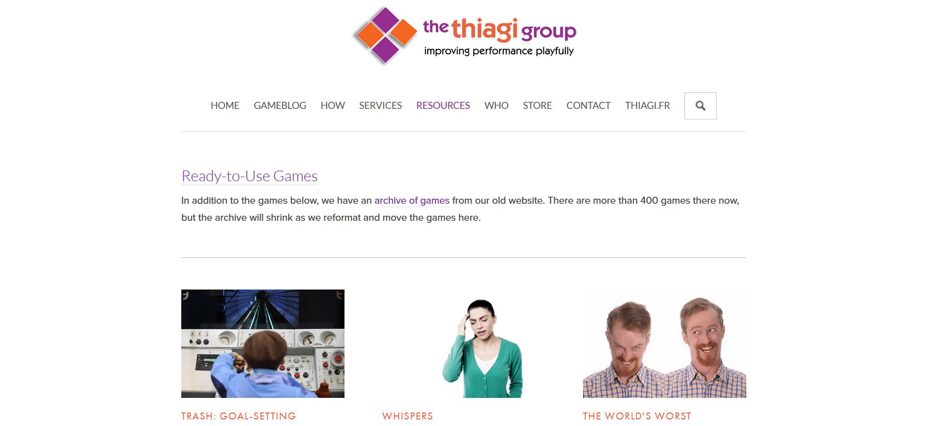 thiagi's website